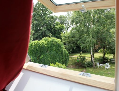 View on the garden from the upper bedroom